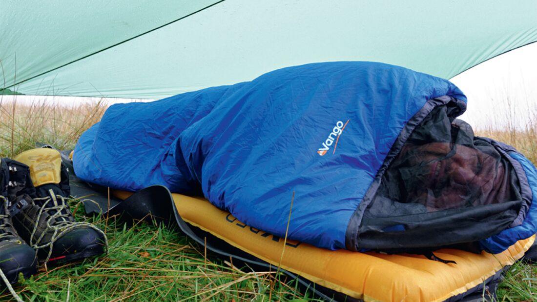 OD 1014 Tested on Tour Vango Planet 150 Schlafsack mit Moskitonetz