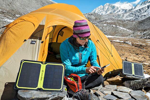 OD 1018 Solarpaneele Strom Akku Trekking Camping Smartphone Handy aufladen