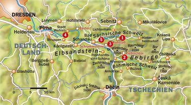 elbsandsteingebirge karte deutschland Elbsandstein: Die besten Touren im Felsenland   outdoor magazin.com