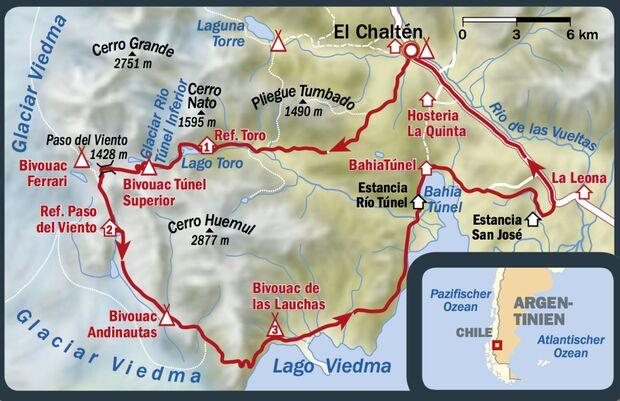 OD 1216 Patagonien Map Karte