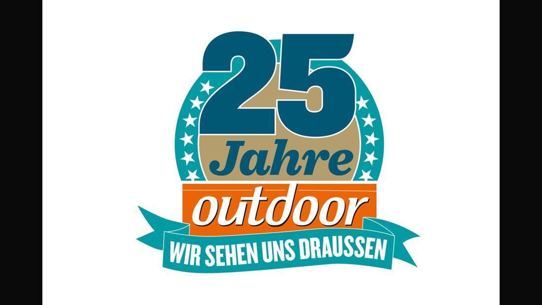 OD 2013 Jubiläum Logo 25 Jahre outdoor Heft Teaser