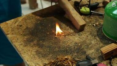 OD 2013 Outdoor-Messe Light my Fire Fire Steel feuer machen Shot fuer Video