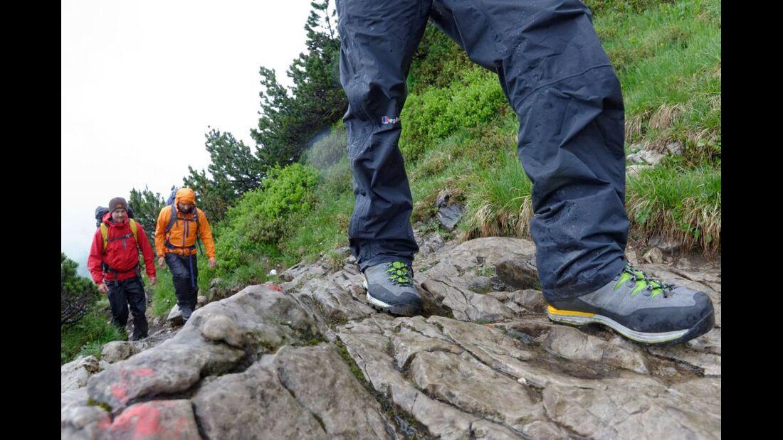 OD 2014 Bergstiefel Bergschuhe Klettersteig Test Alpen 2