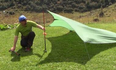 OD 2014 Tarp aufbauen Frank Wacker Camping Biwak Übernachten Trekking