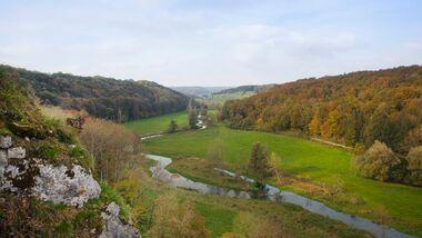 OD 2015 Albschäferweg Schwäbische Alb Herbstwandern Baden-Württemberg Mittelgebirge Brenzregion Heidenheim