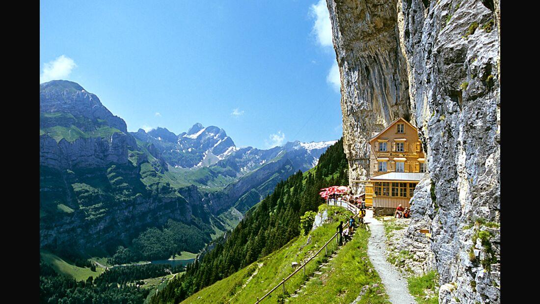 OD 2015 Appenzellerland Säntis Wandern Impressionen 6 Berggasthaus Aescher