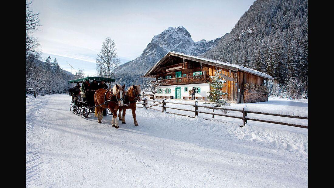 OD 2016 Bayern Winter Special Rodel Guide Winter Events Pferdeschlitten