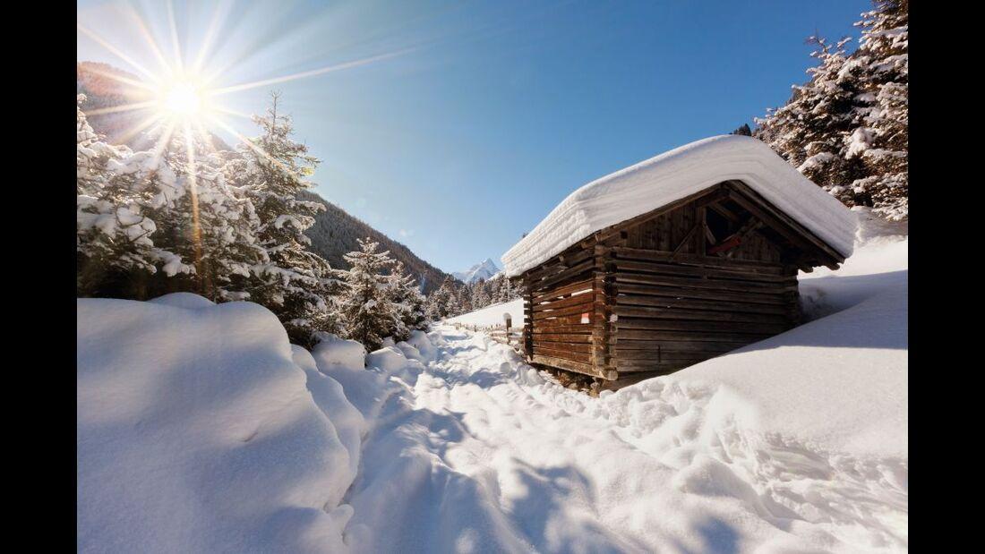 OD 2016 Innsbruck Kühtai Sellraintal Winter Winterwandern Skitour