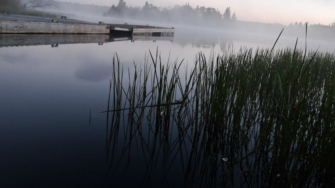 OD 2016 Manitoba Kanada Philip Duckwitz See Nebel Morgen