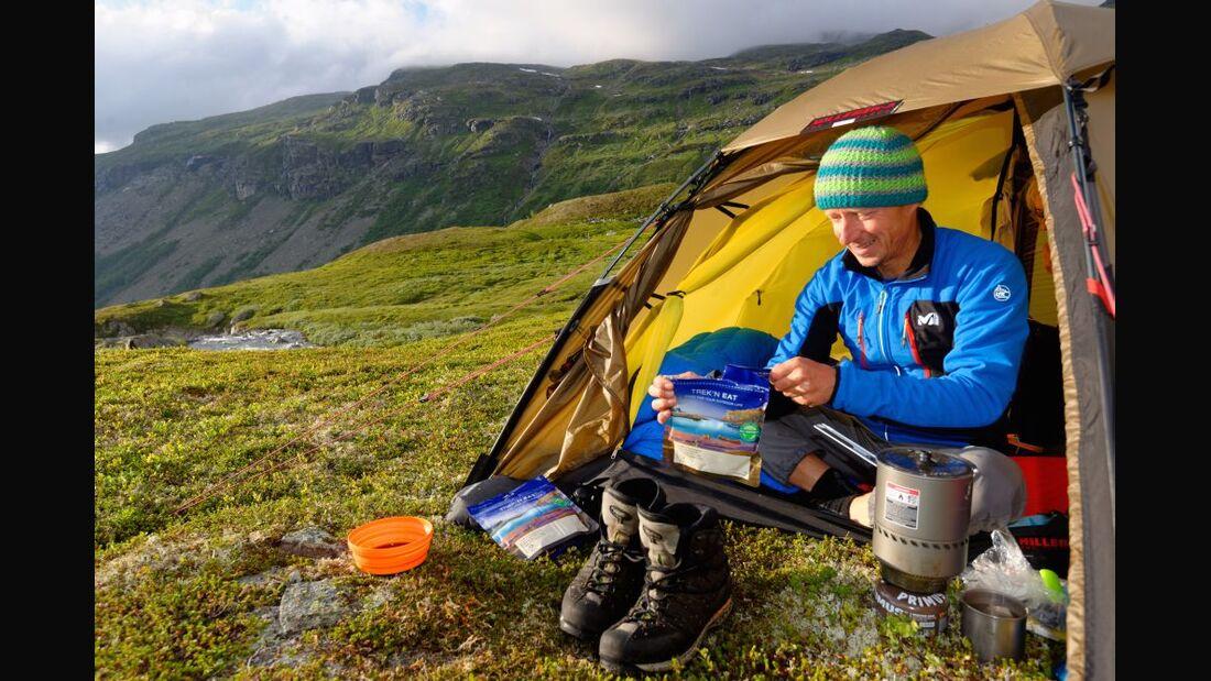 OD 2016 Trekking Kochen Kocher Zelt Hardangervidda Norwegen Essen TreknEat Fertigmahlzeit Ernährung Küche