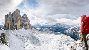 OD 2017 Drei Zinnen Dolomiten Berge Alpen Winter Herbst Wanderer Wandern