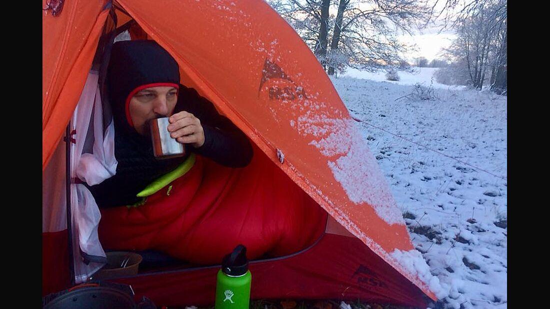OD 2017 Zelten im Schnee Wintercamping Schwäbische Alb