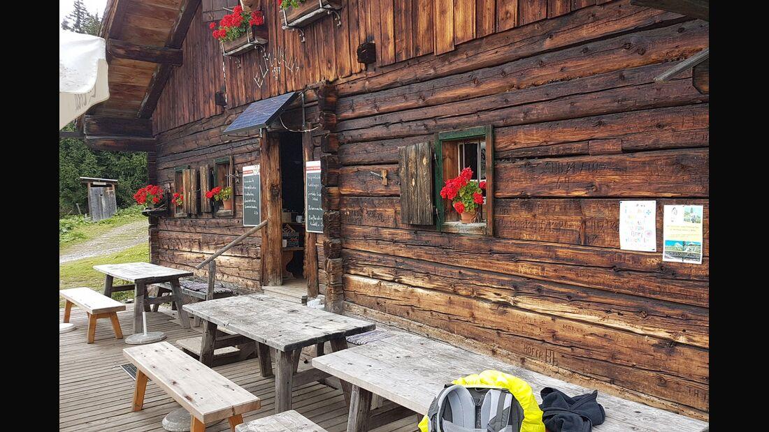 OD 2018 Berghütte Ellmaualm Salzburger Land Österreich Wandern Einkehren Huette