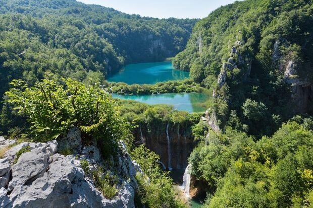 OD 2018 Kroatien Nationalpark Plitvicer Seen Sommer Südeuropa Urlaub Reise
