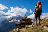 OD 2018 Schweiz Wallis Berge Bergtour Wandern Wanderer
