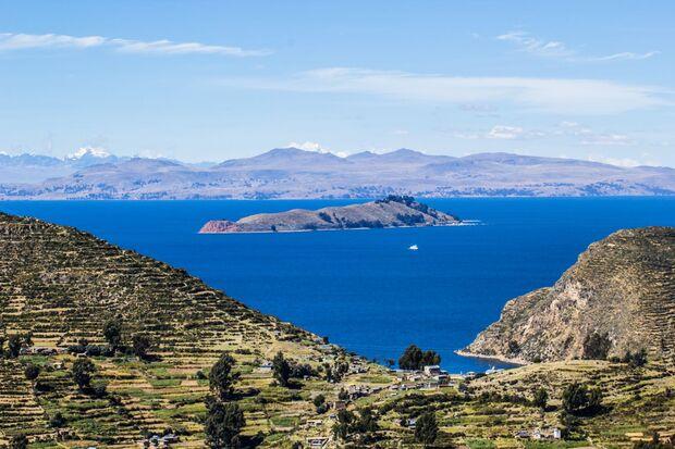 OD 2018 Titicaca See Peru Anden Wasser Landschaft Südamerika