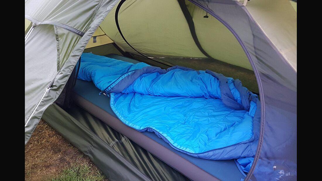 OD 2018 Zelt Zelttest Schlafsacktest Schlafsäcke Isomatte Camping Trekking