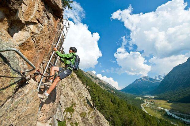 OD Abenteuer Klettersteig: hoch hinaus über Steig und Stein