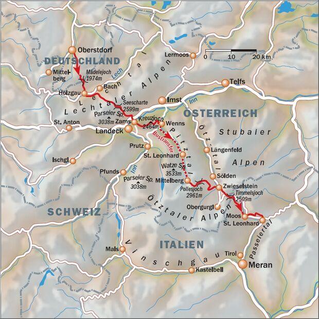 OD Alpen Karte