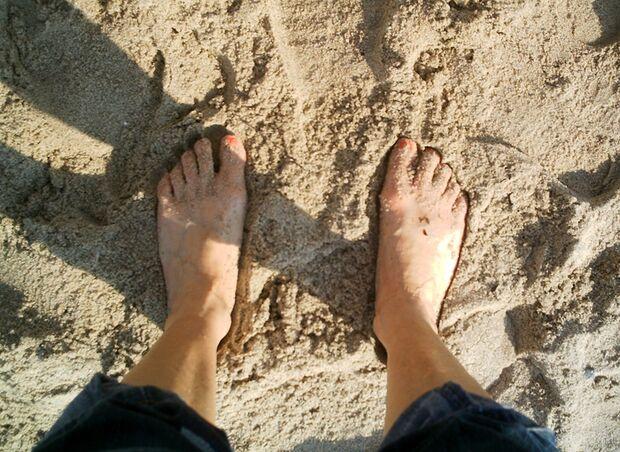 OD Barfuss am Strand