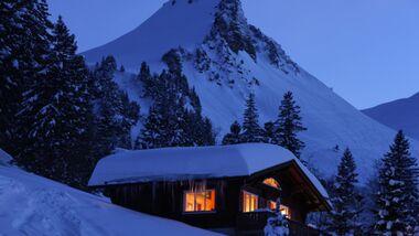 OD Berghütte Winter Wallis