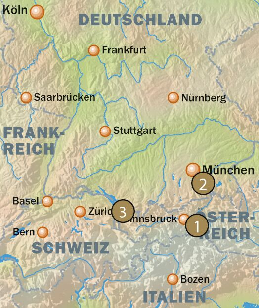 OD Berghütten Karte