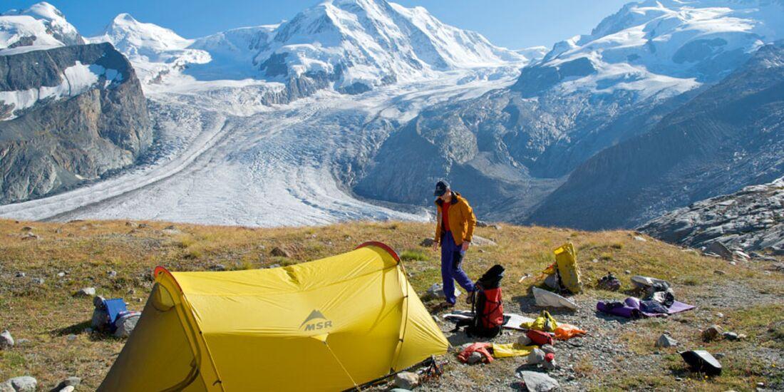 OD Campen auf Gletscherhöhe