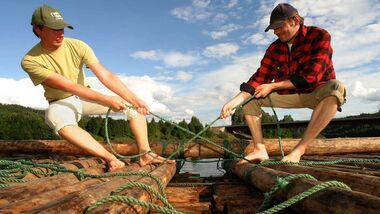 OD Das eigene Floß bauen Schweden Vildmark