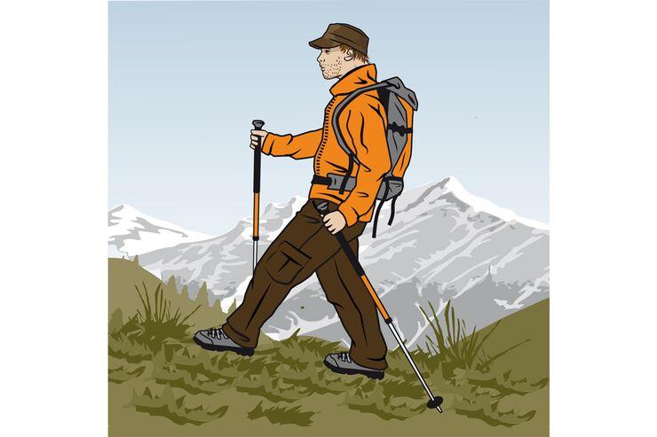 Trekkingstöcke: So setzen Sie die Wanderhelfer richtig ein