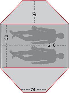OD Kuppelzelt-Test - Jack Wolfskin Yellowstone II - Zeltskizze