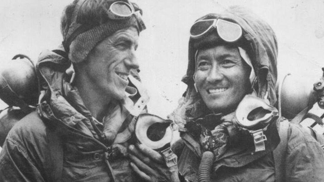 OD Legenden Bergsteiger Sherpa Tenzing Norgay Edmund Hillary Mount Everest