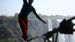 OD Lukas Irmler Slacklining Highline Afrika Simbabwe Victoria Falls