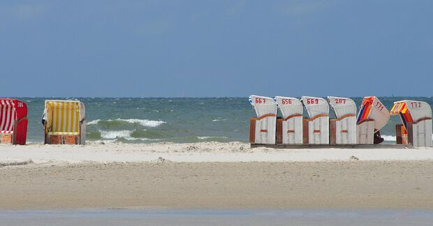 OD Nordfriesland Standkörbe Meer Nordsee Urlaub