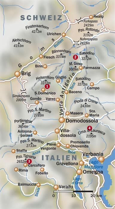 OD Piemont Karte