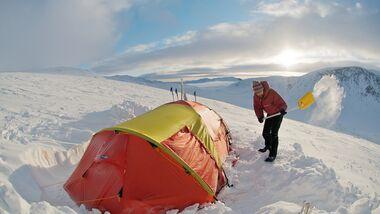 OD Pulka Norwegen Zelten Schnee Wintercamping