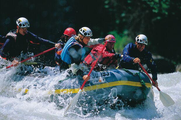 OD Rafting Paddeln Sommer Wasser Tirol
