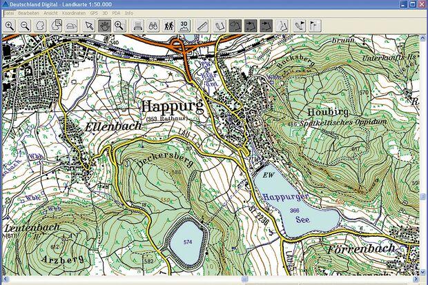 OD Rasterkarte GPS Gerät