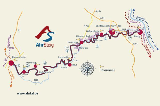 OD Rheinland-Pfalz Advertorial AhrSteig Übersichtskarte