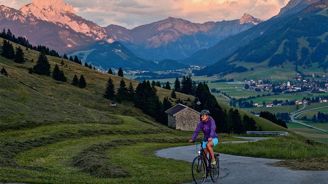 OD SH 2015 Bayern Radgenuss Gimpel Tannheimer Berge Fahrrad Bike