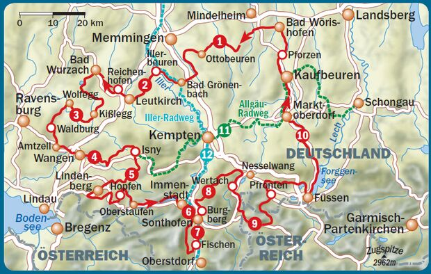 OD SH 2015 Bayern Radrunde Allgäu Karte
