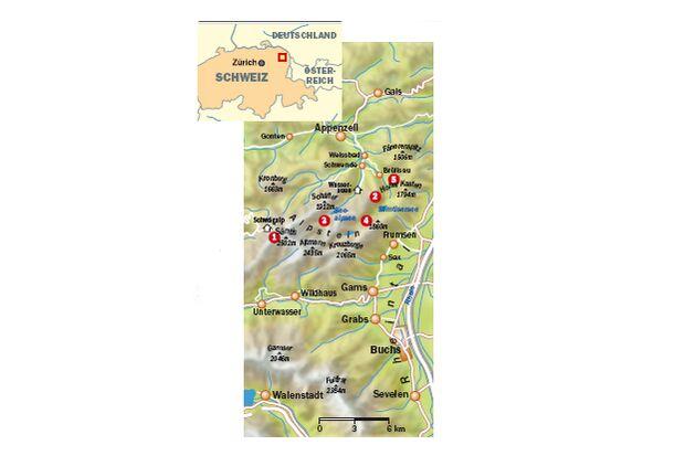 OD Saentis Appenzeller Land Karte 2013
