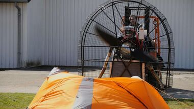 OD Sturmtest Zelt Windmaschine