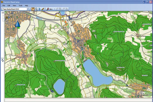 OD Vektorkarte GPS Gerät