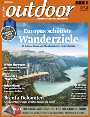 OUTDOOR Ausgabe 02/2020 - Titelbild - Trolltunga