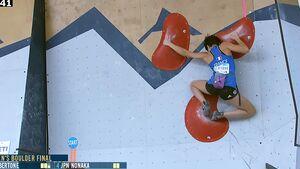 Oriane Bertone Boulder-Weltcup Salt Lake City