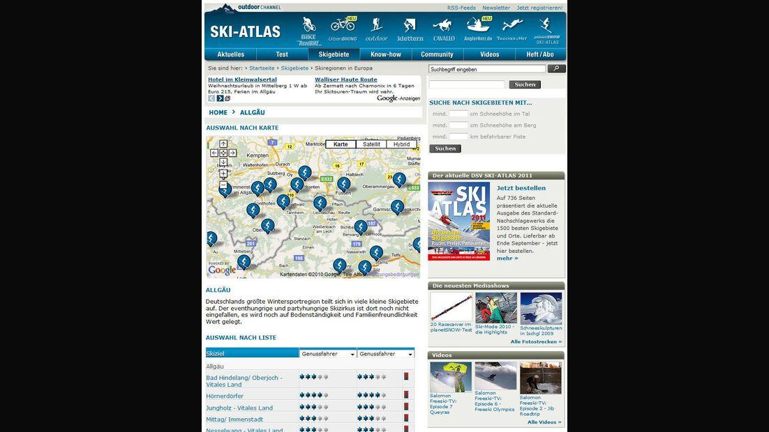 PS DSV Skigebiete DB Screen