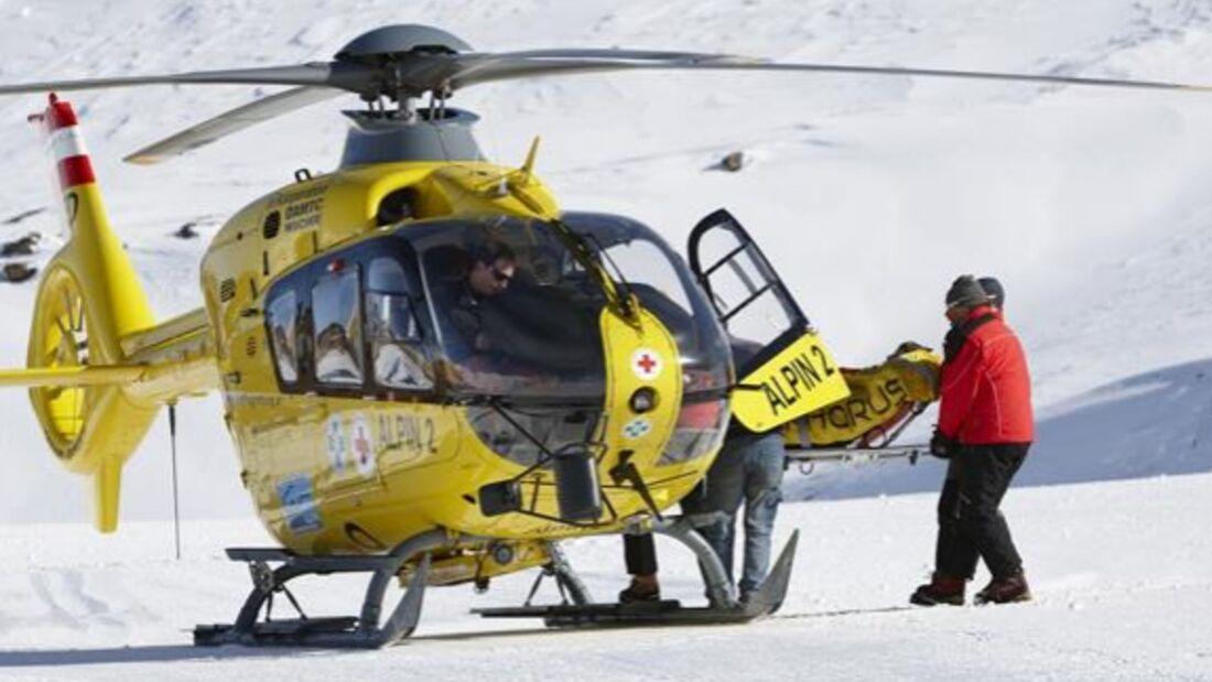 PS DSV aktiv Ski Piste Unfall Heli Rettung