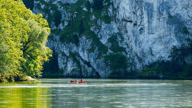 Paddeln auf der Donau