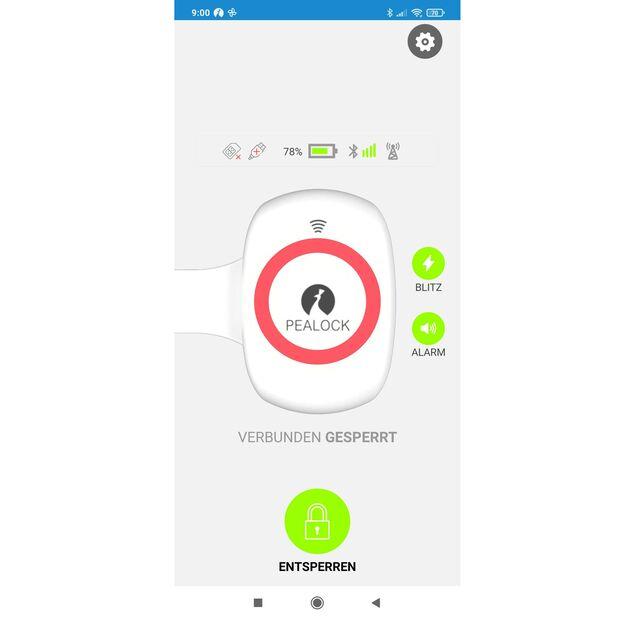 Pealock App Smartphone