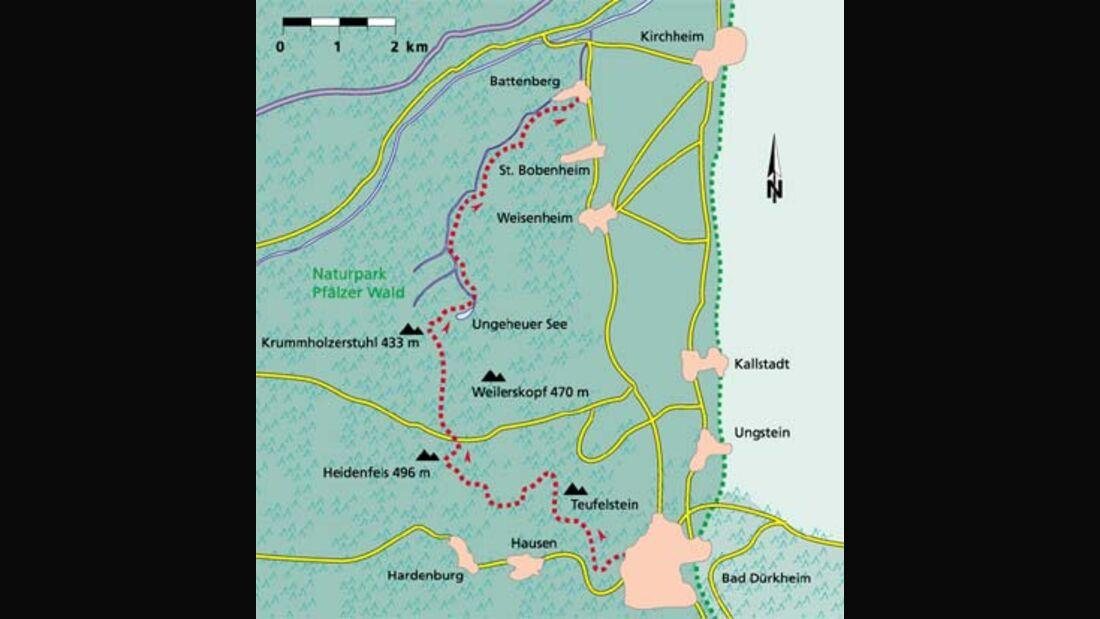 Pfalz Tour 1 Karte